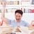 сердиться · студент · книгах · расстраивать · книга - Сток-фото © feelphotoart