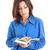 komoly · fiatal · gyönyörű · nő · tart · nyitott · könyv · olvas - stock fotó © feelphotoart