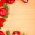 украшение · соснового · ель · красный · украшения - Сток-фото © feelphotoart