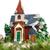 декоративный · дома · орнамент · соснового · ель - Сток-фото © feelphotoart