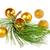 decorative golden yellow round ball ornaments with pine stock photo © feelphotoart