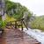 fából · készült · ösvény · Horvátország · víz · tájkép · hegyek - stock fotó © fesus