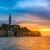 rovinj old town at night in adriatic sea stock photo © fesus