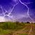 rayo · carretera · campo · camino · rural · árbol · paisaje - foto stock © fesus