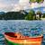 lac · église · panoramique · vue · célèbre · pèlerinage - photo stock © fesus