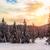 alpino · puesta · de · sol · nieve · montana · invierno · azul - foto stock © fesus