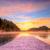 şaşırtıcı · gündoğumu · göl · kış · Slovenya · Avrupa - stok fotoğraf © fesus