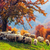 sheep under the tree in transylvania stock photo © fesus