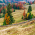 colorful autumn landscape scene with fence in transylvania stock photo © fesus
