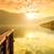 カラフル · 日没 · 川 · アルプス山脈 · 高山 - ストックフォト © fesus