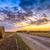 heno · rodar · hierba · verde · azul · cielo · nubes - foto stock © fesus