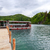 Ferry boats on Plitvice lakes pier, Croatia. stock photo © Fesus