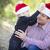父 · 娘 · 着用 · サンタクロース - ストックフォト © feverpitch