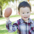 aranyos · fiú · játszik · futball · boldog · gyermek - stock fotó © feverpitch