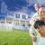 african · american · famiglia · casa · disegno · dietro · felice - foto d'archivio © feverpitch
