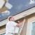 プロ · 画家 · 小 · 塗料 · 家 · 建物 - ストックフォト © feverpitch