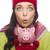 expressive · métis · femme · hiver · chapeau - photo stock © feverpitch
