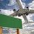 Billboard · самолет · небе · большой · пусто · копия · пространства - Сток-фото © feverpitch