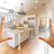 Hands Framing Gradated Custom Kitchen Design Drawing and Photo C stock photo © feverpitch