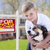 young boy and his dog in front of sold for sale sign and house stock photo © feverpitch