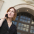 zakenvrouw · praten · mobiele · telefoon · buiten · moderne · kantoorgebouw - stockfoto © feverpitch