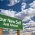 zmian · zielone · znak · drogowy · chmury · przed · dramatyczny - zdjęcia stock © feverpitch