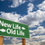 new life old life green road sign over clouds stock photo © feverpitch