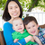 ao · ar · livre · retrato · chinês · mãe · dois - foto stock © feverpitch
