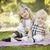 tatlı · küçük · kız · bebek · kardeş · park · piknik · battaniye - stok fotoğraf © feverpitch