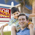 Mixed Race Father, Son Piggyback, Front of House, Sold Sign stock photo © feverpitch