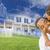 filho · pai · piggyback · casa · jogar · família - foto stock © feverpitch