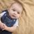 halfbloed · baby · jongen · leggen · deken · gelukkig - stockfoto © feverpitch
