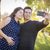 pregnant wife and husband taking cell phone picture of themselve stock photo © feverpitch