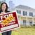femenino · vendido · propietario · signo · casa - foto stock © feverpitch