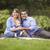 gelukkig · halfbloed · familie · spelen · park · picknick - stockfoto © feverpitch