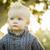 aranyos · szőke · nő · kicsi · fiú · cumi · fehér - stock fotó © feverpitch