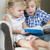 Young Brother and Sister Reading a Book Together stock photo © feverpitch