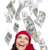 Young Excited Woman with $100 Bills Falling Around Her stock photo © feverpitch
