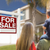 family facing for sale real estate sign and house stock photo © feverpitch