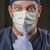 médico · enfermeira · desgaste · estetoscópio · dedo · boca - foto stock © feverpitch