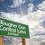 biztonság · előre · zöld · jelzőtábla · drámai · égbolt - stock fotó © feverpitch