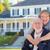 feliz · casal · de · idosos · casa · mulher · cabelo - foto stock © feverpitch