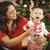 etnische · vrouw · halfbloed · baby · christmas · portret - stockfoto © feverpitch