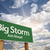 Big Storm Green Road Sign stock photo © feverpitch