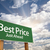 best price green road sign over clouds stock photo © feverpitch