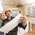 Contractor Discussing Plans with Woman, Kitchen Drawing Photo Be stock photo © feverpitch