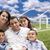 família · campo · de · grama · nuvens · céu · casa · ícone - foto stock © feverpitch