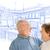 casal · de · idosos · cozinha · projeto · desenho · branco - foto stock © feverpitch