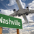Nashville Green Road Sign and Airplane Above stock photo © feverpitch