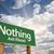 nada · à · frente · verde · placa · sinalizadora · dramático · nuvens - foto stock © feverpitch